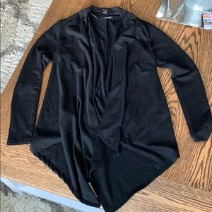 Black longer in the front cardigan